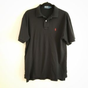 POLO Ralph Lauren Black Mens Polo Shirt. Size M